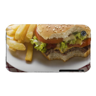Cheeseburger, bites taken, with chips iPhone 3 Case-Mate cases