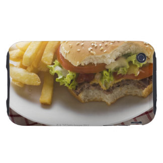 Cheeseburger, bites taken, with chips iPhone 3 tough covers