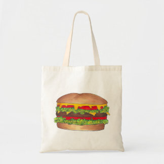 Cheeseburger Burger w/ Cheese on Bun Fast Food Bag