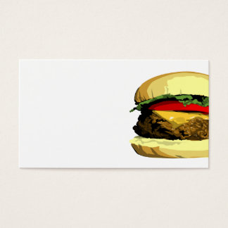 Cheeseburger business card template