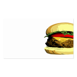 Cheeseburger business card template