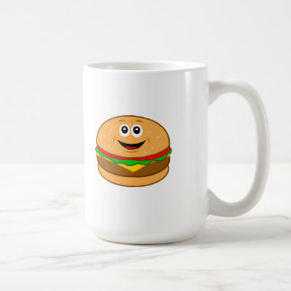 Cheeseburger Cartoon Coffee Mug