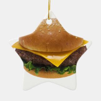 Cheeseburger Ceramic Star Decoration