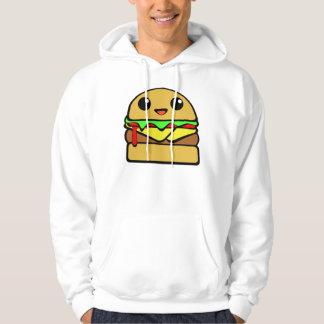 Cheeseburger Character Hooded Sweatshirt