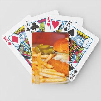 Cheeseburger! Cheeseburger! Bicycle Playing Cards