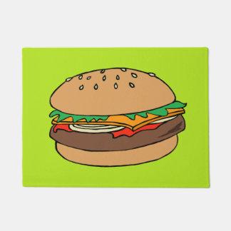 Cheeseburger custom doormat