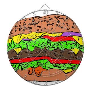 Cheeseburger Dartboard