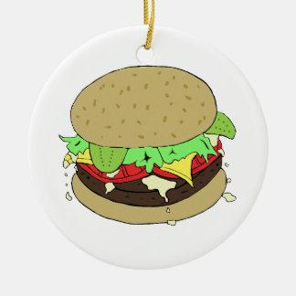 Cheeseburger Christmas Ornaments