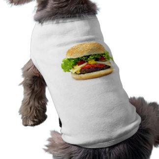 Cheeseburger Sleeveless Dog Shirt