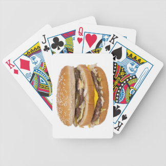 Cheeseburger double fast food bicycle playing cards