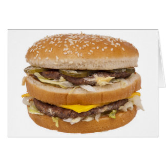Cheeseburger double fast food card
