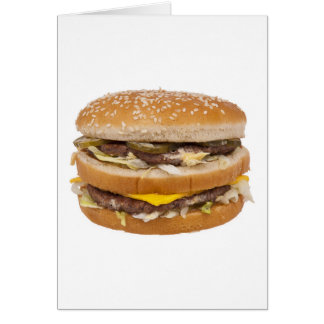 Cheeseburger double fast food greeting card