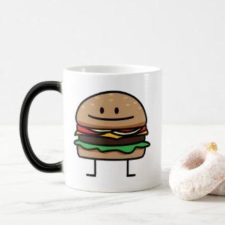 Cheeseburger Hamburger ground meat Beef cheese bun Magic Mug