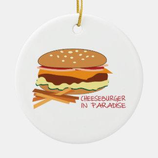 Cheeseburger In Paradise Christmas Tree Ornaments