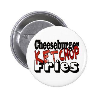 Cheeseburger Ketchup Fries Pins