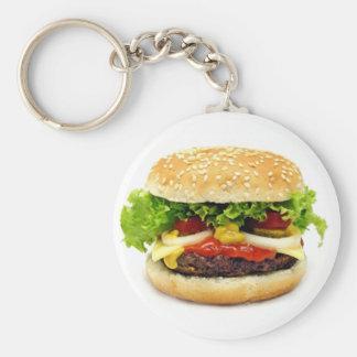 Cheeseburger Basic Round Button Key Ring