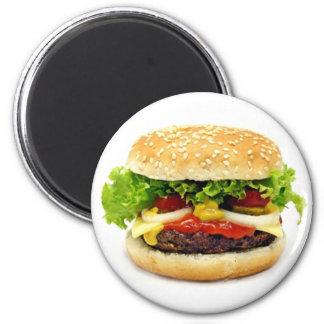 Cheeseburger 6 Cm Round Magnet