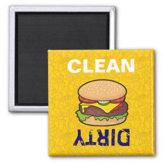 Cheeseburger Square Magnet