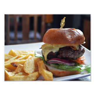 Cheeseburger Meal In London Photo Print