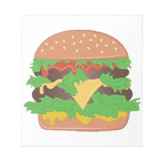 Cheeseburger Memo Note Pad
