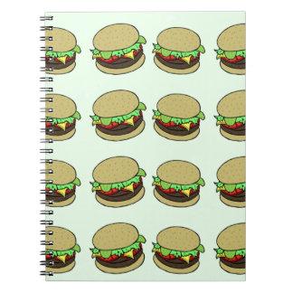 Cheeseburger Spiral Notebooks