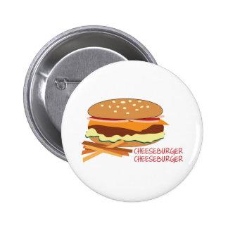 Cheeseburger Pinback Button