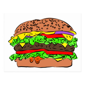 Cheeseburger Postcard