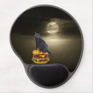 Cheeseburger Raft on a Sea of Mist Gel Mouse Pad