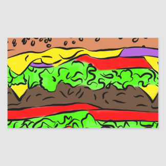 Cheeseburger Rectangular Sticker