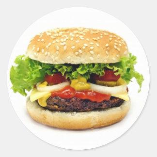 Cheeseburger Round Sticker