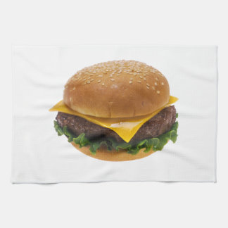 Cheeseburger Tea Towel