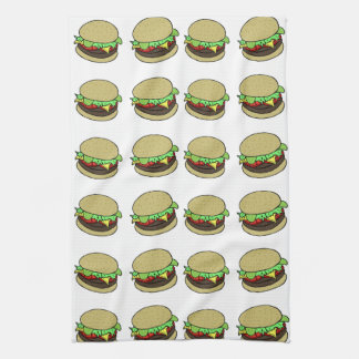 Cheeseburger Tea Towels