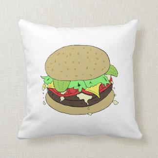 Cheeseburger Throw Cushions