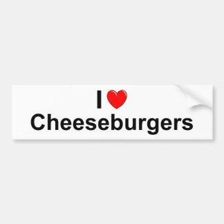 Cheeseburgers Bumper Sticker
