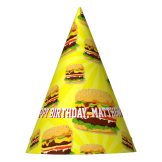 Cheeseburgers Hamburgers Custom Party Hats