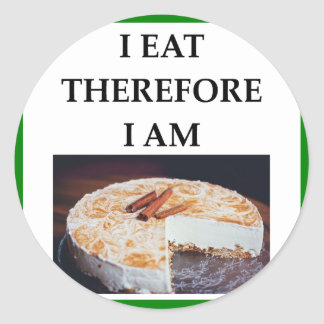 cheesecake classic round sticker