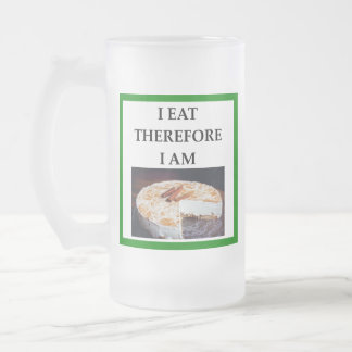 cheesecake frosted glass beer mug