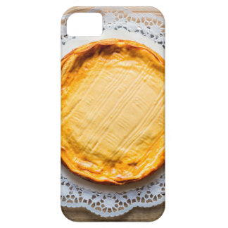 Cheesecake on rustic wood cake top. barely there iPhone 5 case