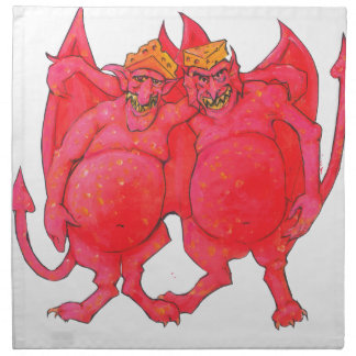 Cheesehead Demons Napkin