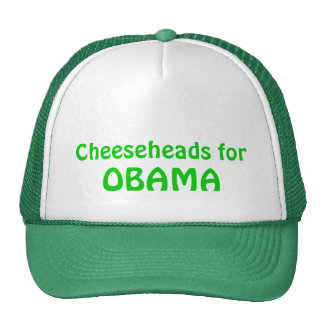 Cheeseheads for Obama Trucker Hat, Green Cap