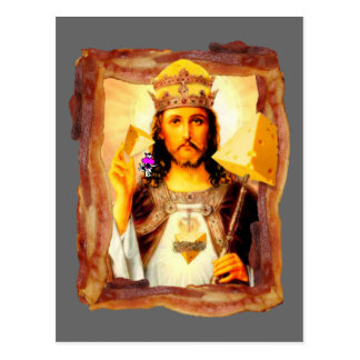 Cheesus Bacon Christ Postcard