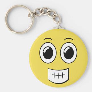 Cheesy Grin Key Ring