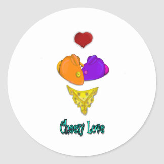 Cheesy Love Classic Round Sticker