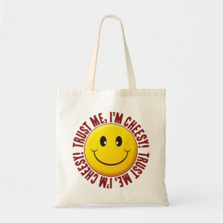 Cheesy Trust Smiley Budget Tote Bag