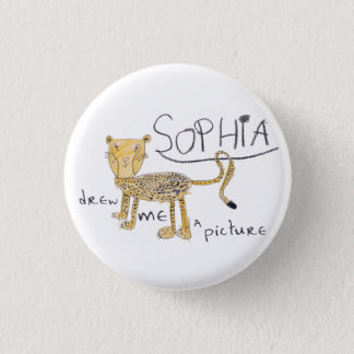Cheetah 3 Cm Round Badge