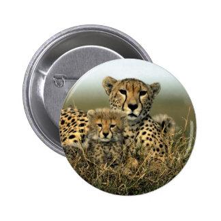 Cheetah and Cub Pins