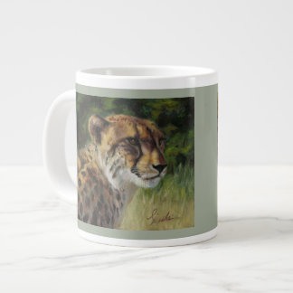 Cheetah and Lion 20oz jumbo mug
