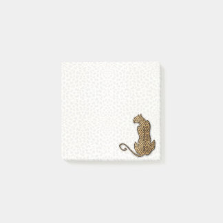 Cheetah Big Cat with Faded Animal Print Post-it Notes