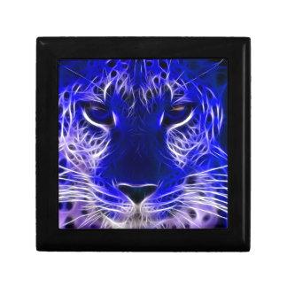 cheetah blue fractal design gift box