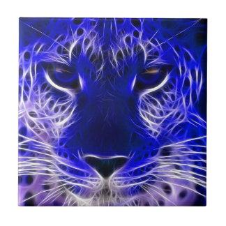 cheetah blue fractal design tile